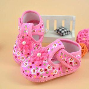 BOTTE Bottes bébé Fleur Chaussures Crib doux @ Rose
