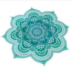 tapis de sol fitness vert tapis de plage fleur style bohmien multifonc - Tapis Fleur