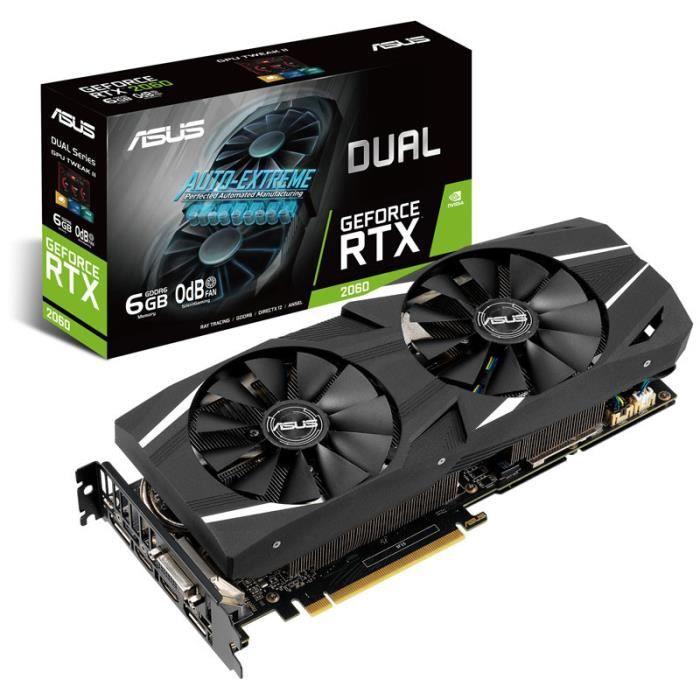 Carte graphique ASUS Dual GeForce RT 2060 6GB GDDR6