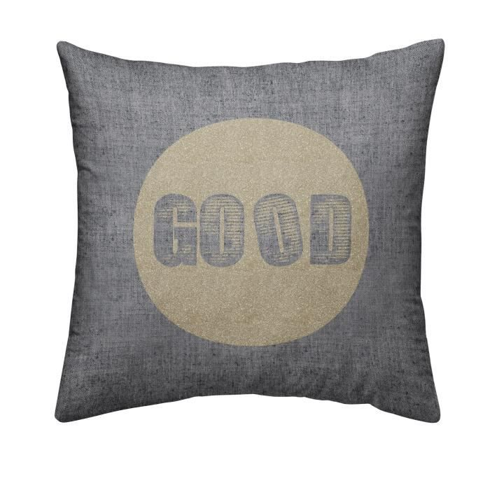 TODAY Coussin déhoussable Chambray Coton GOLD - 40x40cm