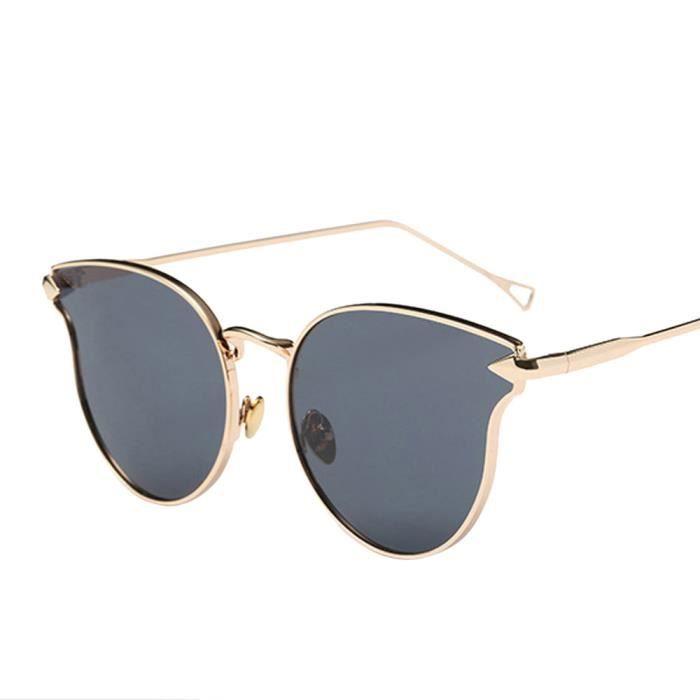 Style vintage miroir unisexe lunettes de soleil lunettes lunettes métal cadre (gris) LacVBL4Gj