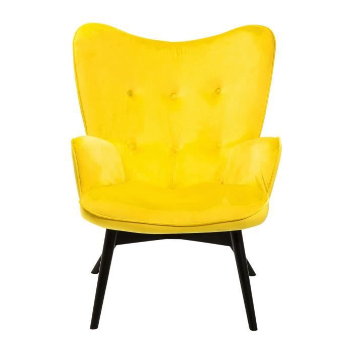 taille 40 af53a fc723 Fauteuil jaune velours