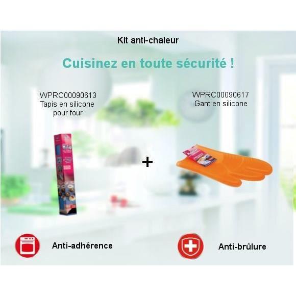 PIÈCE DE PETITE CUISSON Pack Kit Anti-chaleur - Tapis en silicone pour fou