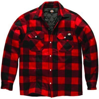 Chemise Portland rouge taille S 100% laine Dickies