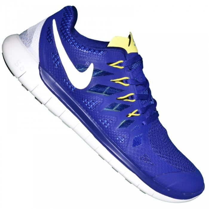 low priced 89db6 0ff09 CHAUSSURES DE RUNNING Nike - Basket Running - Homme - Free Run 5.0 - Ble