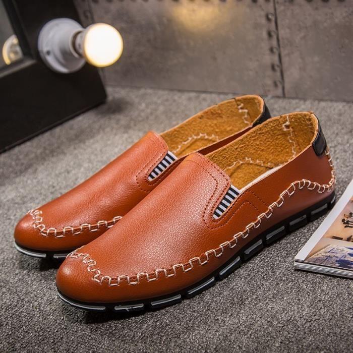 Hommes d'été Mocassins Vintage Style de conduite Chaussures klvRlk