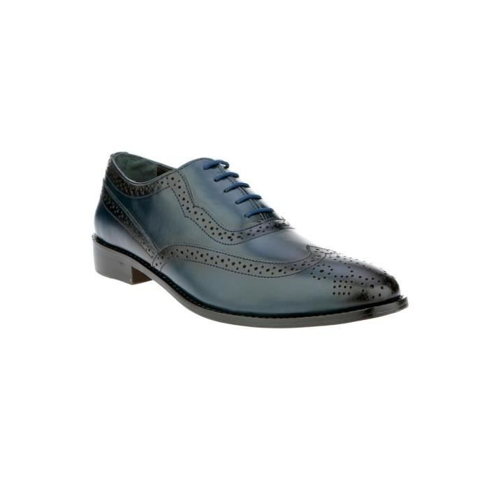 Liberty Handmade Leather Classic Brogue Wing-tip Lace Up Perforated Toe Dress Oxford Shoes IPCXT Taille-44 1-2 Uci5CKi