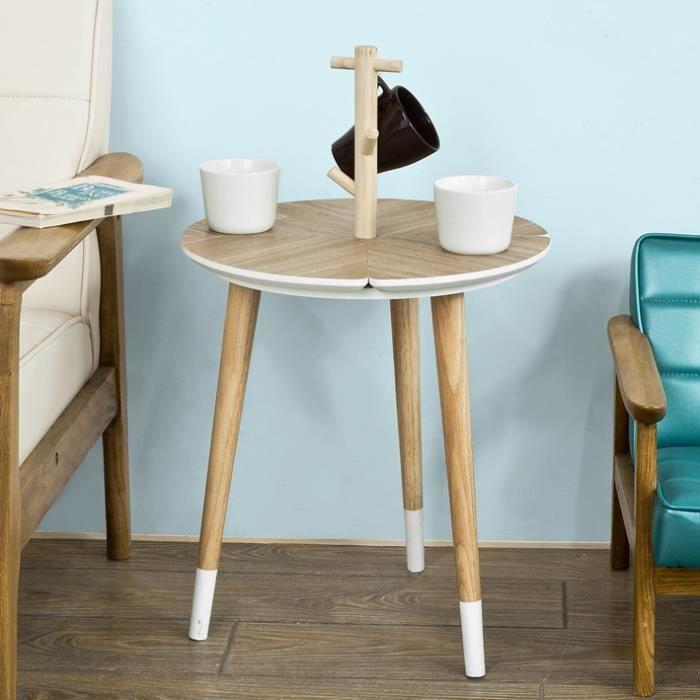 TABLE D'APPOINT SoBuy® FBT38-WN Table café Design avec support à T