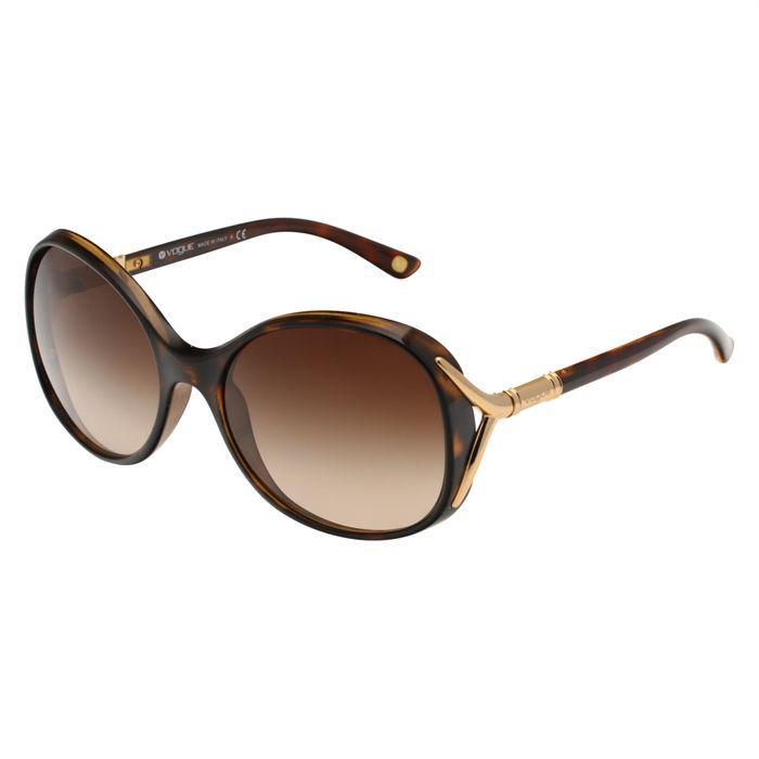 VOGUE Lunettes de soleil Femme Marron - Achat   Vente lunettes de ... d1913d2d584c