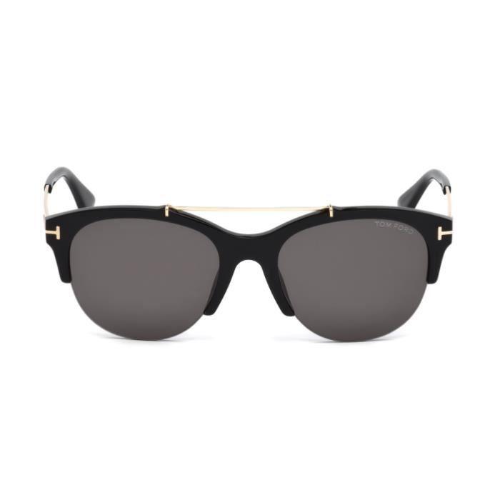 c863e3dc4e7da9 Lunettes de soleil Tom Ford FT0517 01A Adrenne 55-19 Noir ...