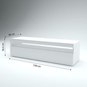 meuble tele blanc laque achat vente meuble tele blanc laque pas cher cdiscount. Black Bedroom Furniture Sets. Home Design Ideas