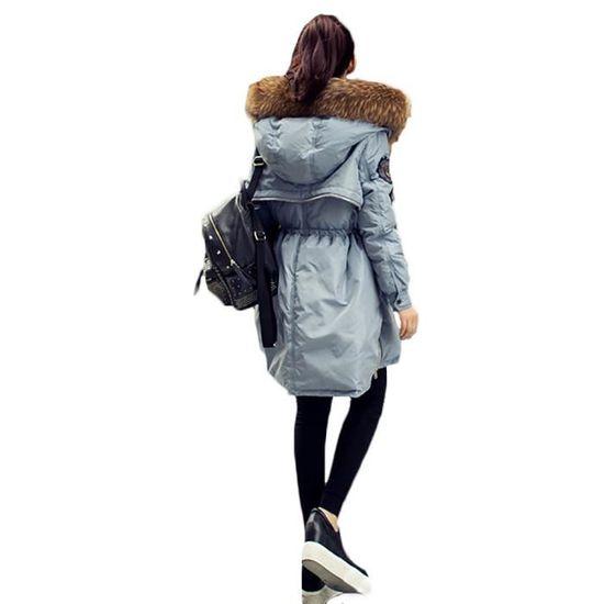 De Femme Slim Mode noir Doudoune longue Masculin Vêtement La Épaississant À Capuche Mi Paragraphe fd4wU0