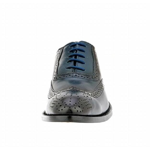 Liberty Handmade Leather Classic Brogue Wing-tip Lace Up Perforated Toe Dress Oxford Shoes IPCXT Taille-44 1-2