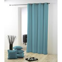 RIDEAU Rideau oeillets 140x280 CHARLY TURQUOISE