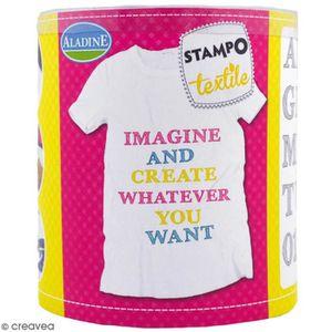 TAMPON DÉCORATIF Stampo'textile - Kit de tampons avec encreur - Alp