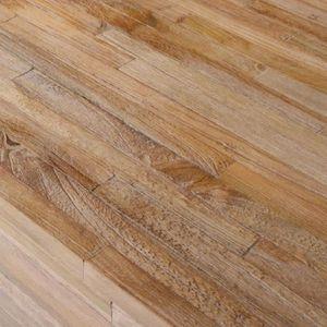 TABLE BASSE R178 Cette table d'appoint en bois de teck a un de