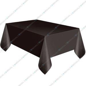 PROTÈGE TABLE Nappe de table rectangulaire NOIR