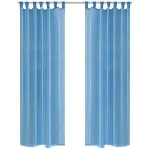RIDEAU P80 Rideau transparent turquoise 140 x 175 cm 2 pc