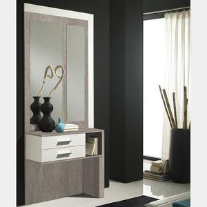 MEUBLE D'ENTRÉE Meuble d entrée blanc et couleur bois clair modern