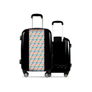 VALISE - BAGAGE Valise CALIBAG (taille L) mosaïque colorée Noir 637f7a88465