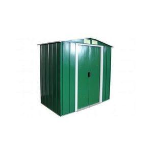 ABRI JARDIN - CHALET Duramax - Abri de jardin en métal vert pin 3,68m2