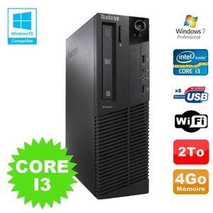 UNITÉ CENTRALE + ÉCRAN PC Lenovo M91p 7005 SFF Core I3 3,1Ghz 4Go Disque