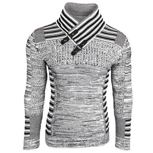 7b70bbcde36c PULL Subliminal Mode - Pull homme col montant chiné col
