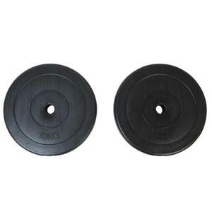 HALTÈRE - POIDS 2pcs Plaques d'Haltère de poids total 20KG à poids
