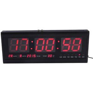 HORLOGE - PENDULE LED Horloge murale numérique affichage Date tempér
