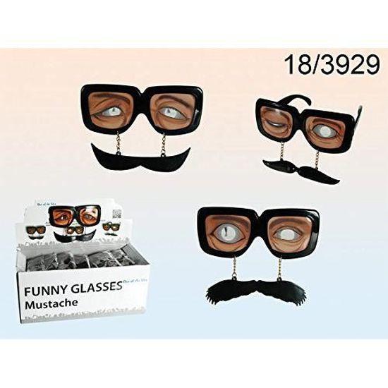 50ad91593ea6cf Lunettes de Fêtes avec Moustache - Déguisement Carnaval Accessoires - 582