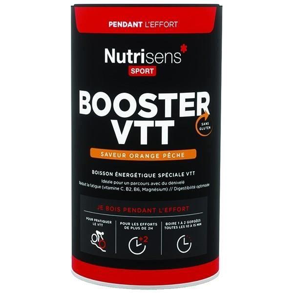 NUTRISENS Complément alimentaire - Pot de 500g pour préparation de boisson énergétique Booster VTT - Orange/Pêche