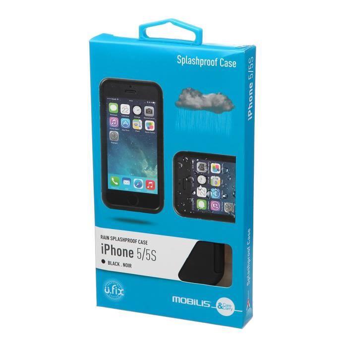 Mobilis Coque en silicone pour Iphone 5 / 5s - Noir