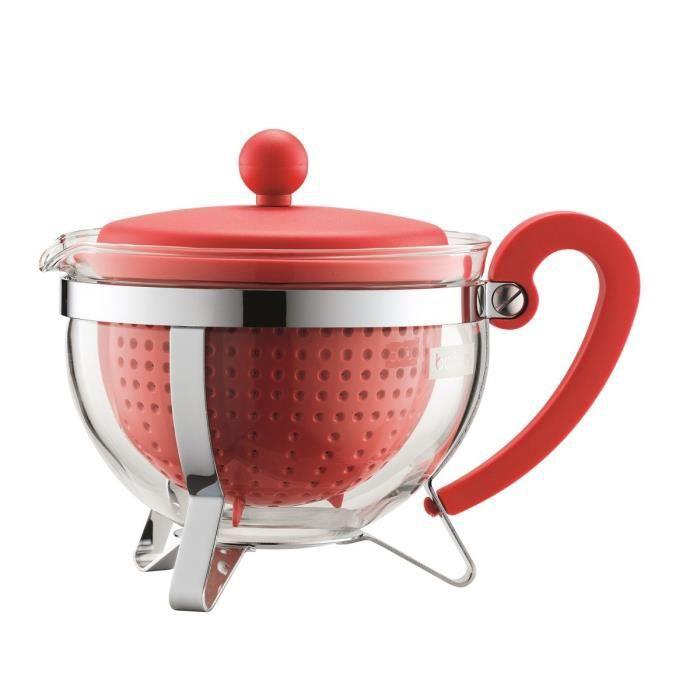 BODUM Théière CHAMBORD avec filtre en plastique 1L rouge - Achat ...