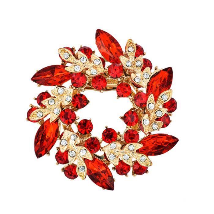 Fashion Strass Fleur Broche Écharpe Clip Boucle PIN FEMMES BIJOUX CADEAU