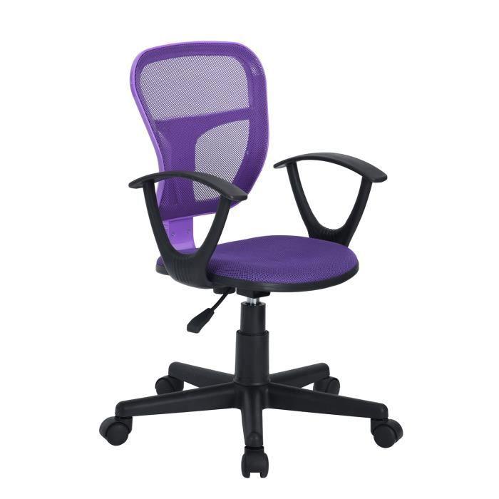 Avec 360 DegrésViolette Réglable De Homy Casa Fauteuil Chaise Bureau Accoudoir Rotation Hauteur CxBdeo