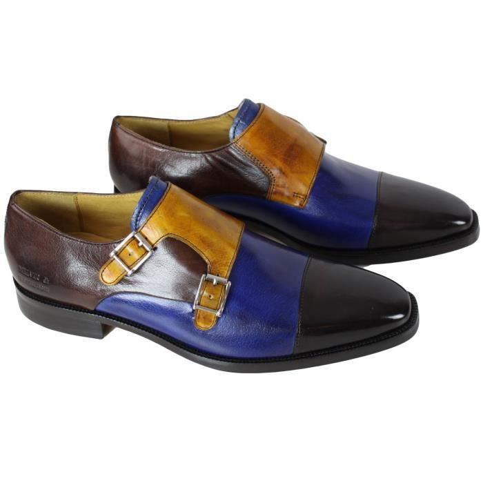 check out a0ac4 32b03 Chaussure en cuir Melvin & Hamilton Jeff 22 Bleu - Achat ...