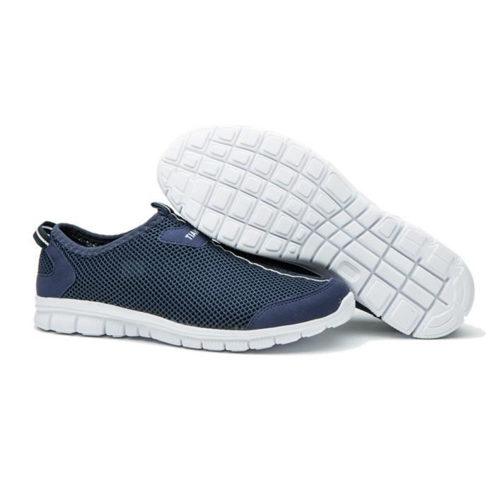 Chaussures Nouvelle Maille Marche Super Respirant Lumière Hommes Casual Exq1UnI