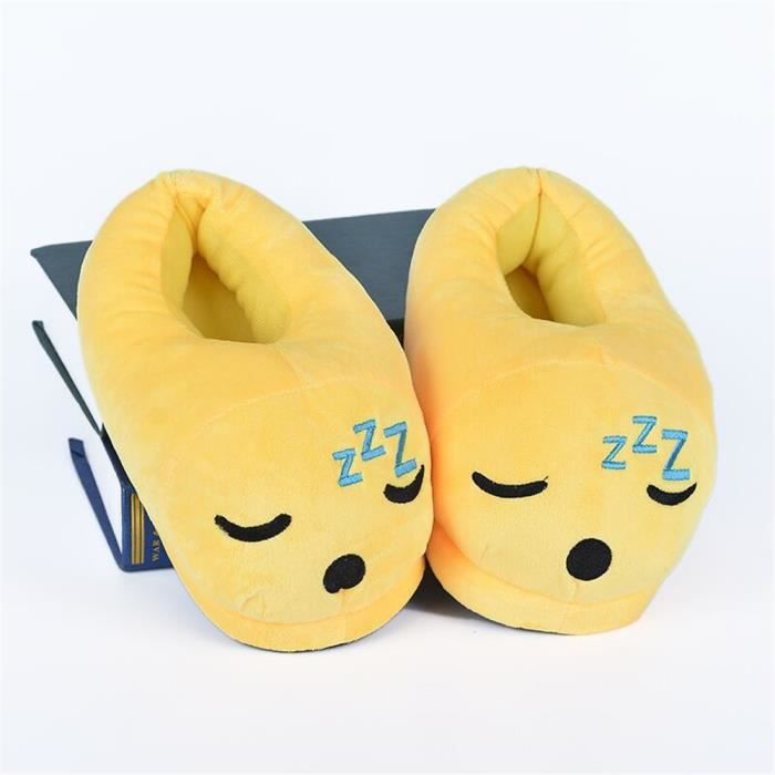 Charmant Chaussons Loisirs plus cachemire chaud Chaussure Garde Au Chaud Doux Hiver Femme Chausson Confortable jaune taille 35-40 xRtiHH