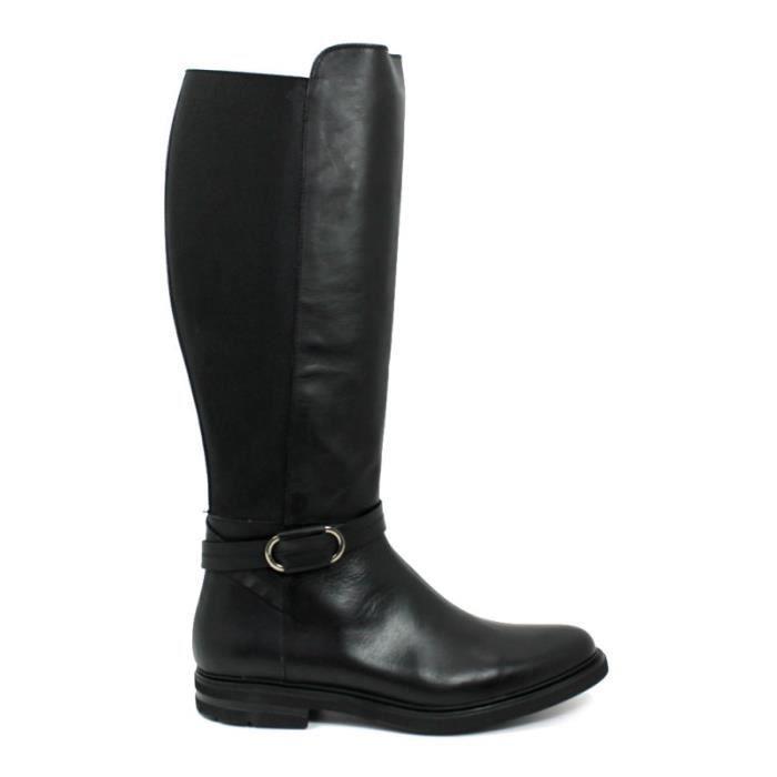 À Femme Taille Trente six Chaussures Noir Cuir Luis Ref 2265 Glissière 22256 Fermeture Élastique Gonzalo xPnHAHqIF