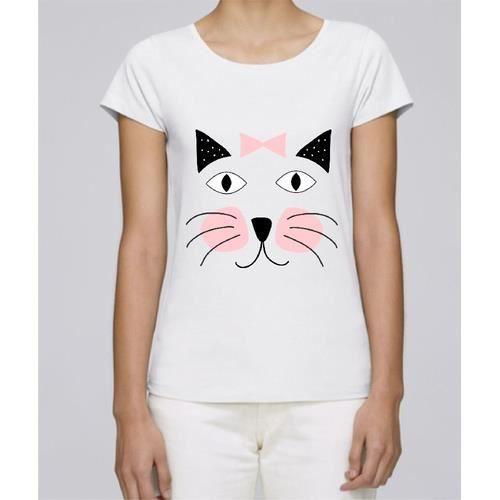 T Premium shirt Femme Mignon Petit Chat Blanc CCaTwr