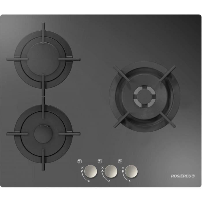 nouveau concept 05c29 36875 Plaques gaz dessus verre ROSIERES - RGV 63 WFMPN • Plaque de cuisson