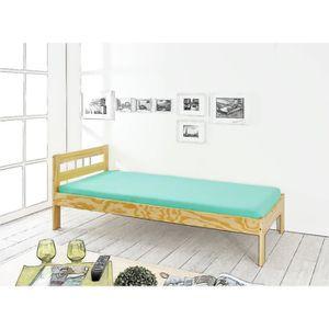 lit 1 place avec sommier et matelas achat vente pas cher. Black Bedroom Furniture Sets. Home Design Ideas