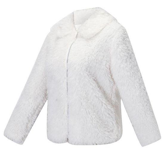Manteaux Veste Dames Blanc D'hiver Femmes Co5419 Chaud Laine Lapel Artificielle Manteau Parka vzvqdAX