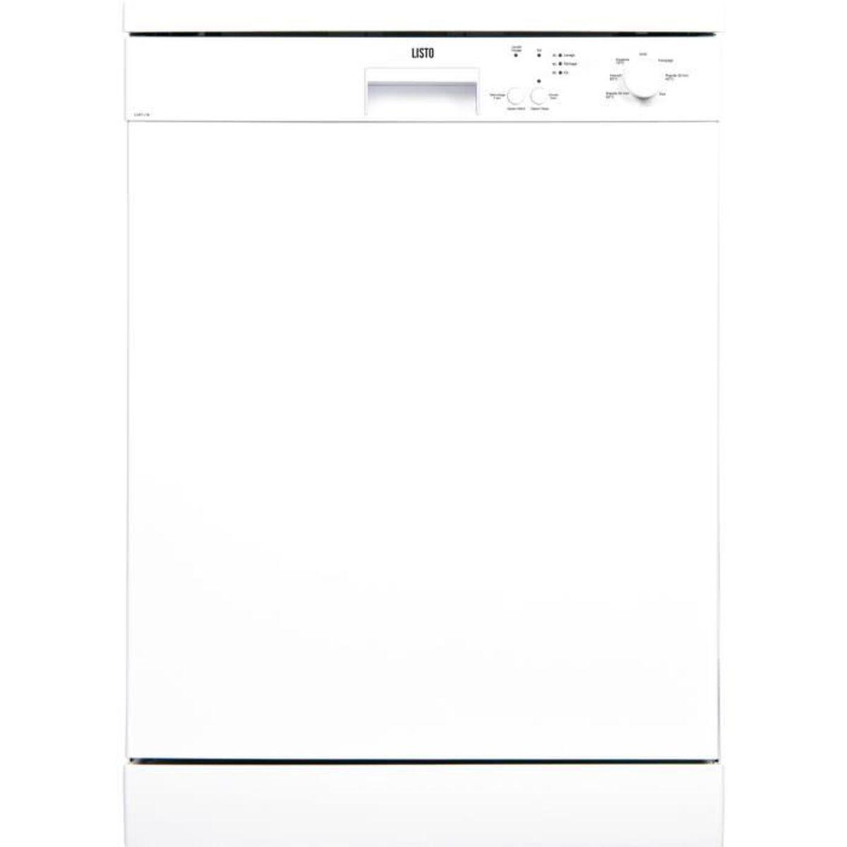 LAVE-VAISSELLE Lave-vaisselle 60cm LISTO LV47 L1 blanc