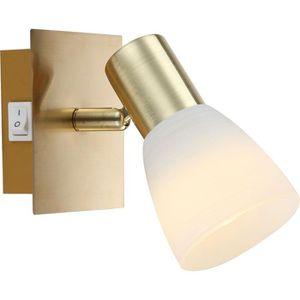 GLOBO Spot LED laiton mat L12 x l10 x h14,5 cm Blanc