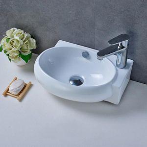 LAVABO - VASQUE Aruhe® Top Design Vasque en Céramique Lavabo à Pos