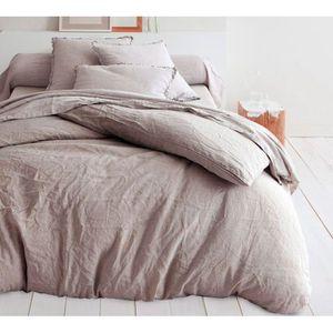 couette couleur lin achat vente pas cher. Black Bedroom Furniture Sets. Home Design Ideas