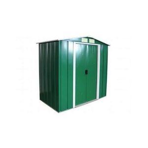 ABRI JARDIN - CHALET Duramax - Abri de jardin en métal vert pin 4,75 m2