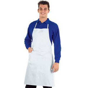 SPECTROPHOTOMETRE Tablier de cuisine professionnel blanc Isacco 100%