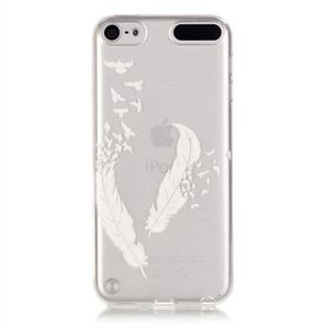 COQUE MP3-MP4 Pour iPod Touch 5 6,plume Style Transparent Ultra